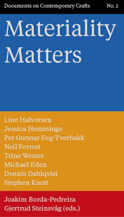Crafting Words lecture in Materiality Matters