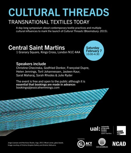 Cultural Threads symposium CSM London 07.02.15