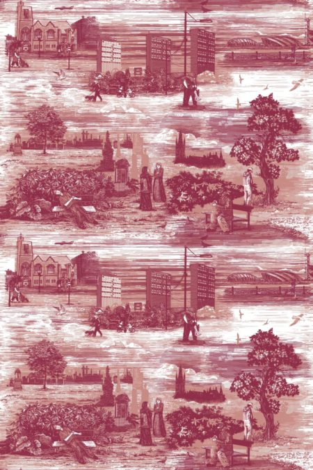 Paradise Lost? contemporary toile de Jouy