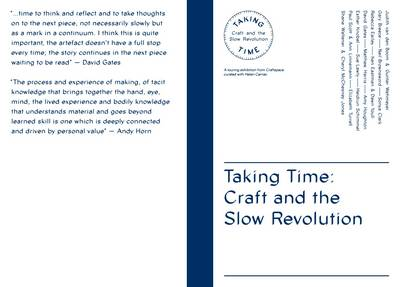 Taking Time: Craft and the Slow Revolution